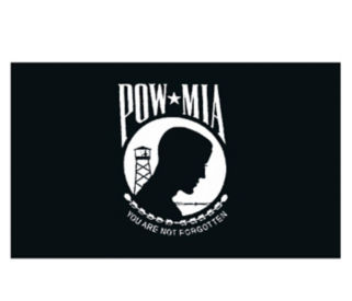 POW/MIA Flag 2' x 3' Single Sided Seal, V20627