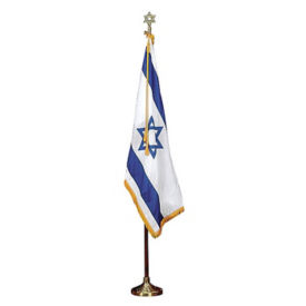 Israel Flag Set with 3' x 5' Flag, V20640