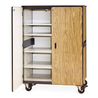 "66""H Mobile Teacher Storage Cabinet with 5 Shelves, B30399"