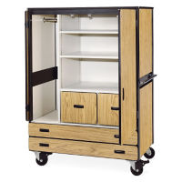 Mobile Teacher Wardrobe Cabinet with Storage, B30398
