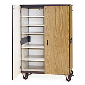 "72""H Mobile Teacher Storage Cabinet with 6 Shelves, B30397"