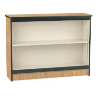 "36""H Bookcase with Two Shelves, B30402"