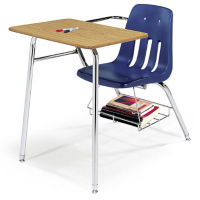 Virco 9400 Chair Desk Combo with Bookrack, C70120