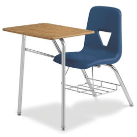 Chair Desk Combo with Bookrack, C70378