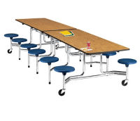 12' Cafeteria Table with Stool Seating, K10004