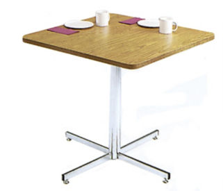 "Square Table with Chrome Pedestal Base 42"" Wide, T10618"