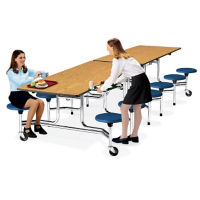 10' Cafeteria Table with Stool Seating, K10003N
