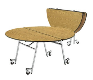 "60"" Round Mobile Table, T10909"
