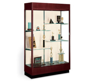 Classically Styled Display Case with Mirror Backing, B32118