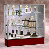 "72"" Wide Spirit Display Case with Mirror Back, B32166"