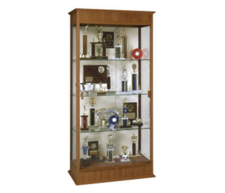 "Display Case with Sliding Glass Doors and Fabric Back 36"" Wide, L40187"