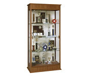 """Display Case with Sliding Glass Doors and Fabric Back 36"""" Wide, L40187"""