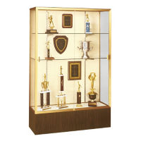 "Trophy Display Case with Aluminum Frame 48"" Wide x 72"" High, D81005"