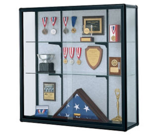 "Wall-Mount Display Case 48"" Wide x 48"" High, D81015"