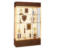 "Trophy Display Case with Lighted Cornice 48"" Wide x 80"" High, D81018"