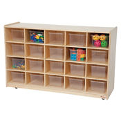 Cubbie Storage Cabinet with 20 Clear Trays, P30086