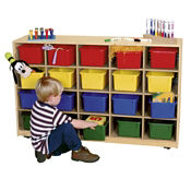 Cubbie Storage Cabinet with 30 Clear Trays, P30089