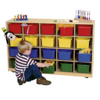 Cubbie Storage Cabinet with 30 Colored Trays, P30090