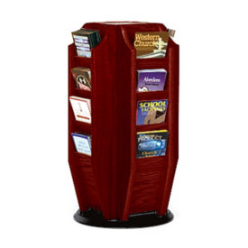 Rotating Literature Rack with 16 Brochure Pockets, L40296
