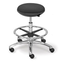 Fabric Memory Foam Mid Range Stool with Foot Ring, K10065