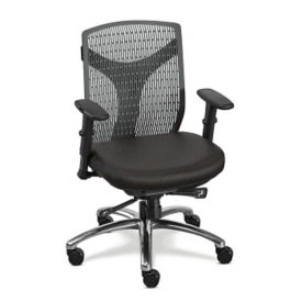 Vector Plastic Back Conference Chair with Fabric Seat, C80441