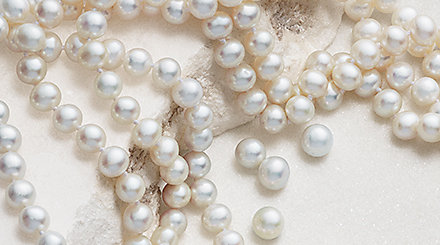 Pearl necklaces.