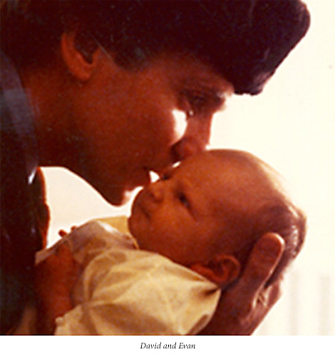 David Yurman with his son Evan as a baby