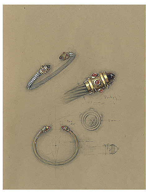 A sketch of the first Cable bracelet