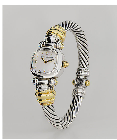 Sterling silver and gold Cable watch