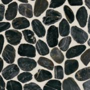 Black River River Pebble Mosaic Saw Cut