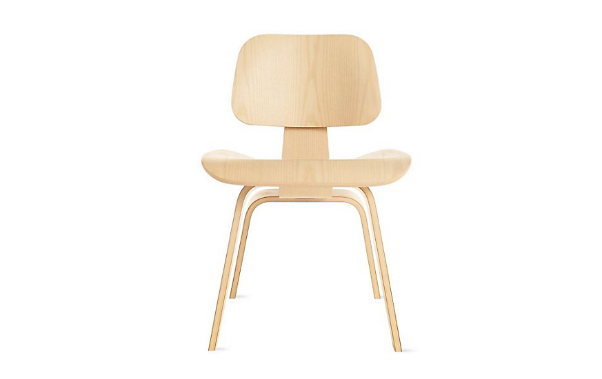 eames molded plywood dining chair with wood base herman miller. Black Bedroom Furniture Sets. Home Design Ideas