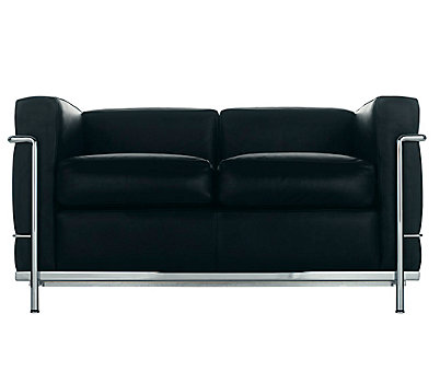 LC2 Petit Modele Two-Seat Sofa