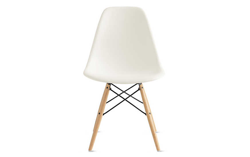 eames molded plastic dowel leg side chair dsw design within