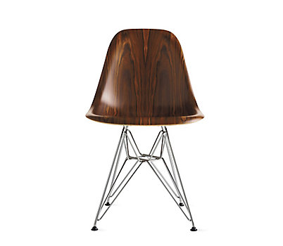 Eames Molded Wood Wire Base Side Chair Dwsr