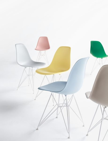 eames molded plastic wirebase side chair dsr - Plastic Chair