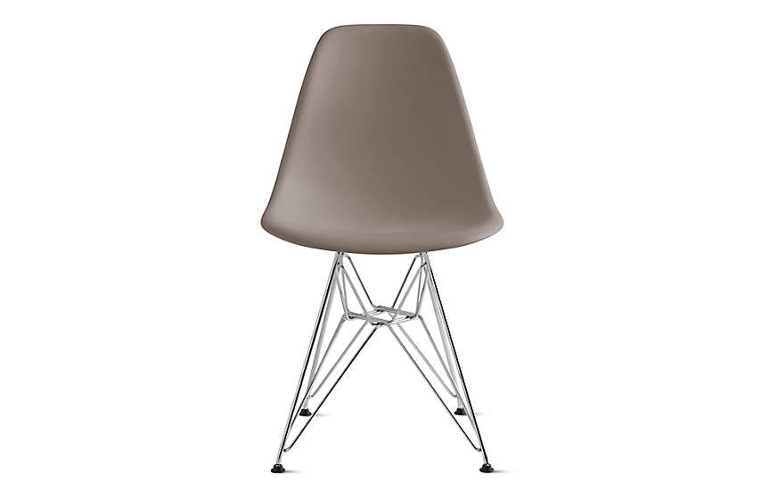 Eames® Molded Plastic Wire-Base Side Chair (DSR)