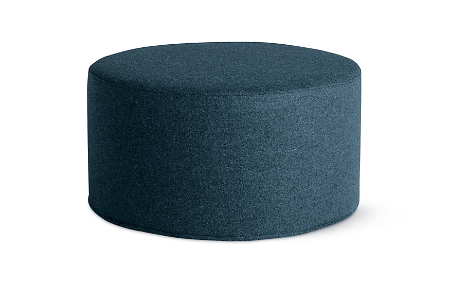 Drum pouf wide design within reach - Design pouf ...