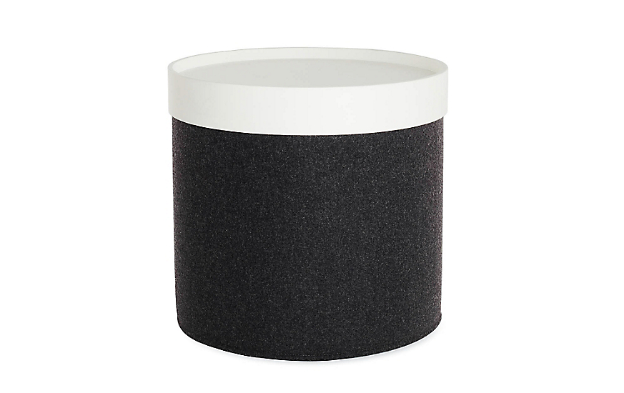 Drum Pouf Tray - High