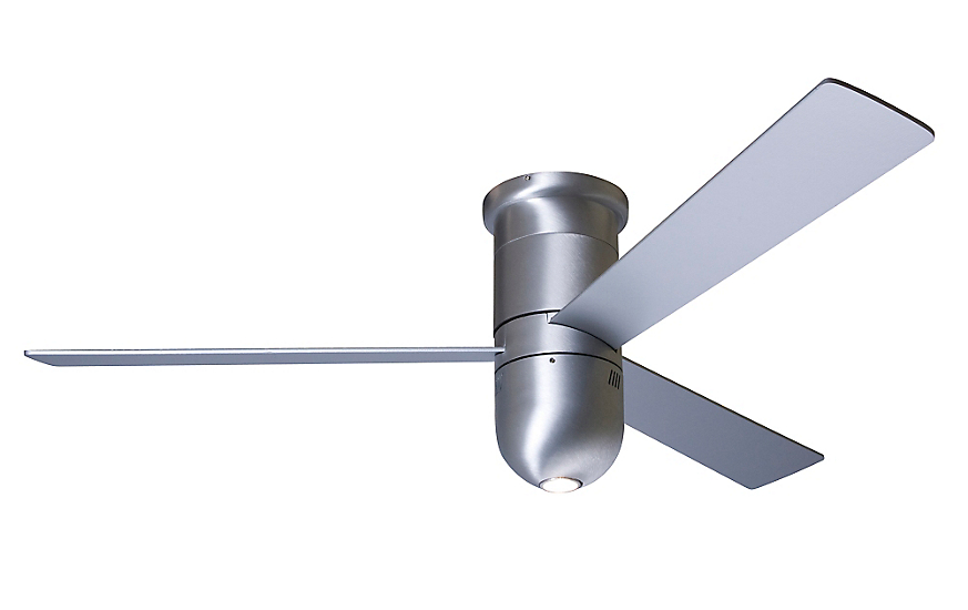Cirrus Flush Ceiling Fan with Halogen Light