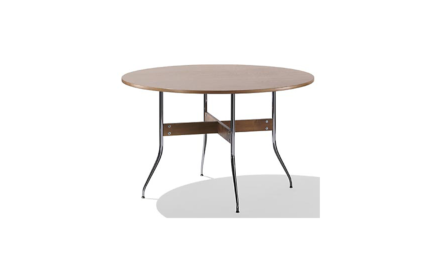 Nelson swag leg dining table with round top herman miller for Nelson swag leg table