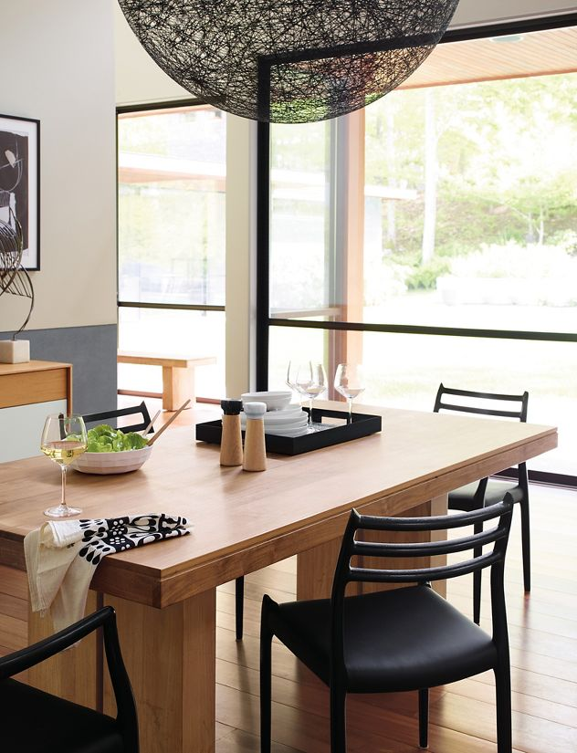 kayu teak dining table design within reach. Black Bedroom Furniture Sets. Home Design Ideas