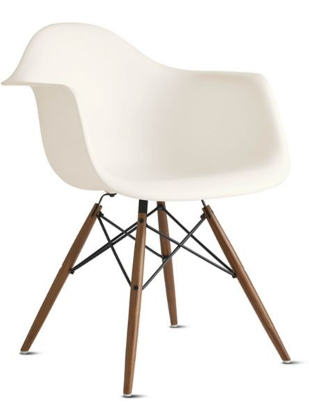 Eames Molded Plastic Dowel Leg Armchair DAW Design Within Reach