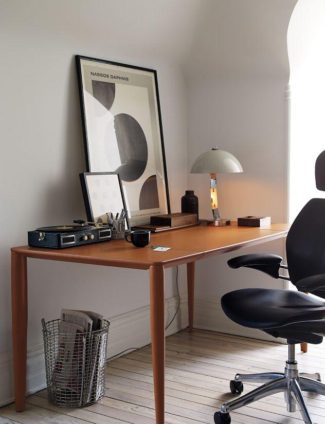 Bottega leather desk design within reach for Design within reach desk
