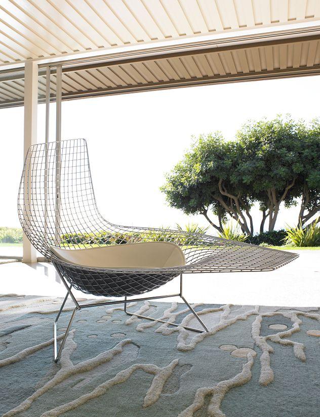 bertoia asymmetric chaise - Chaise Bertoia