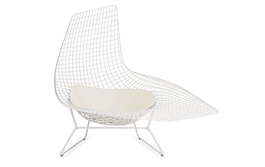 Bertoia asymmetric chaise design within reach for Bertoia asymmetric chaise