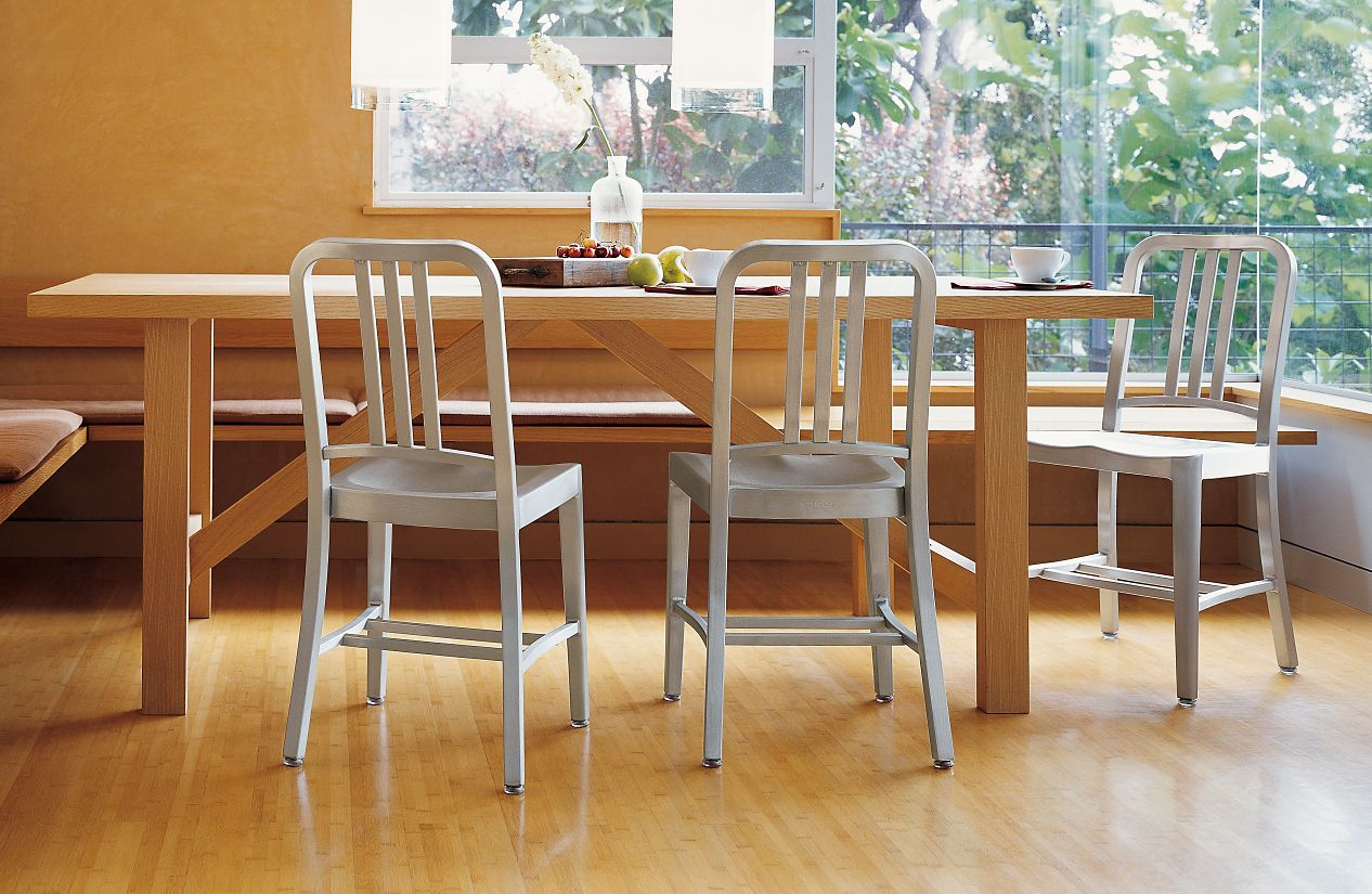 1006 Navy 174 Side Chair Design Within Reach