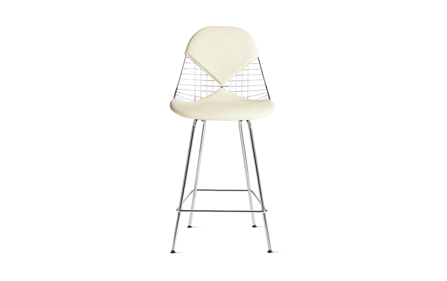 Eames Wire Chair With Bikini Pad Counter Height Herman