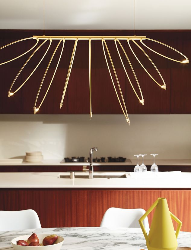 Rings led chandelier design within reach rings led chandelier aloadofball Choice Image