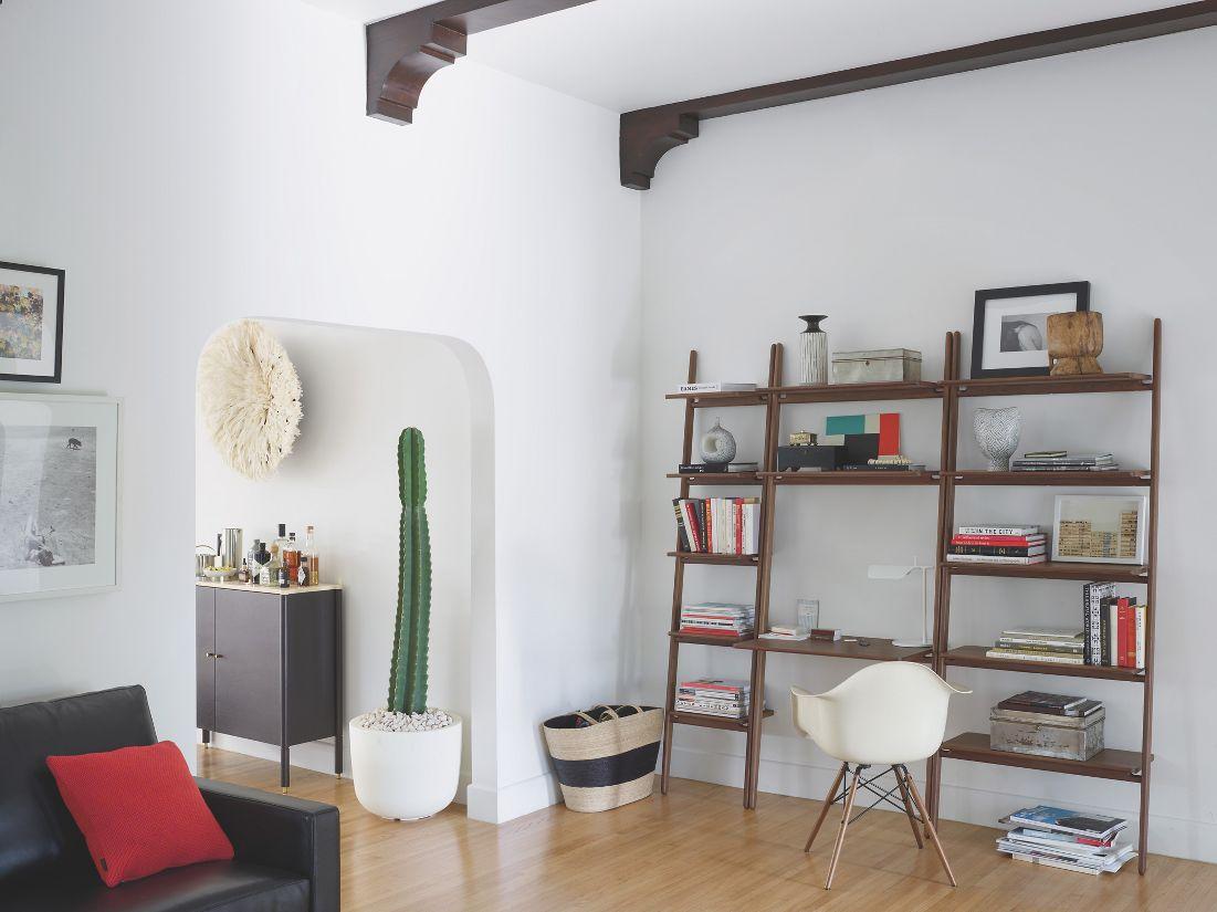 Modern Bedroom Furniture Design Within Reach - Folk ladder 32 desk shelving