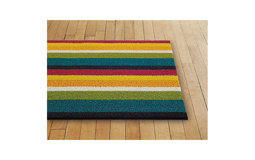 Amazing Chilewich Bold Stripe Shag Floor Mat